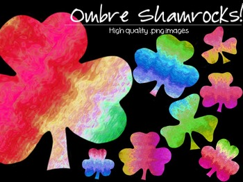 Shamrocks - Ombre - Funky Shamrocks! - Personal and Commercial use