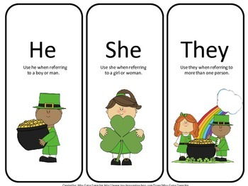 Shamrocks, Pronouns and Prepositions, Oh My!