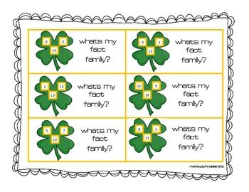 Shamrocks ROCK Fact Families