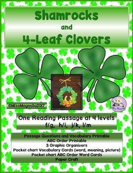 Shamrocks and 4-Leaf Clovers Multi-Level Reading Passage