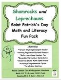Shamrocks and Leprechauns Saint Patrick's Day Math and Literacy Fun Pack