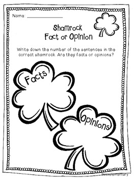 Shamrocks and Leprechauns - St. Patrick's Day Literacy Center Activities