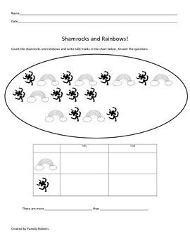 Shamrocks and Rainbows Tally Mark Chart!
