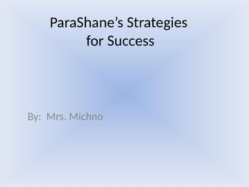 Shane's Strategies for Success (Social Story)