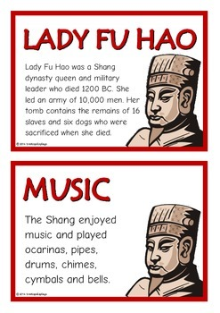 Shang Dynasty Fact Cards