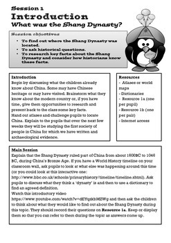 Shang Dynasty of Ancient China Lesson 1: What Was The Shang Dynasty?