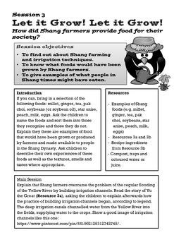 Shang Dynasty of Ancient China Lesson 3: Shang Food and Farming