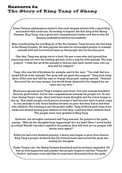 Shang Dynasty of Ancient China Lesson 6: Shang Kings