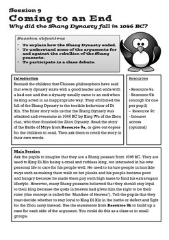 Shang Dynasty of Lesson 9: The End of the Dynasty/The Batt