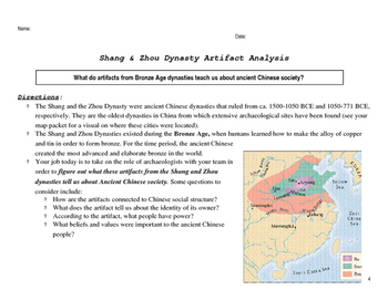Shang & Zhou Dynasty Artifact Analysis - Ancient China