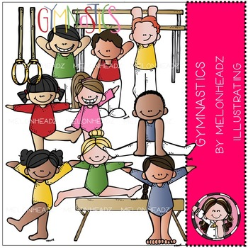 Shannon's gymnastics clip art - COMBO PACK- by Melonheadz