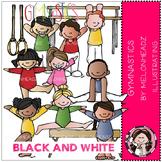 Shannon's gymnastics clip art - BLACK AND WHITE- by Melonheadz