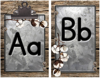 Shanty Chic Collection: Alphabet Posters (Industrial Farmhouse)