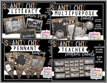 Shanty Chic Collection: Classroom Decor Bundle (Industrial Farmhouse)