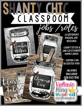 Shanty Chic Collection: Classroom Jobs / Roles (Industrial Farmhouse)