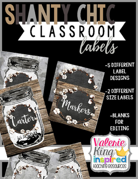 Shanty Chic Collection: Classroom Labels (Industrial Farmhouse)