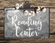 Shanty Chic Collection: Literacy Center Signs (Industrial Farmhouse)