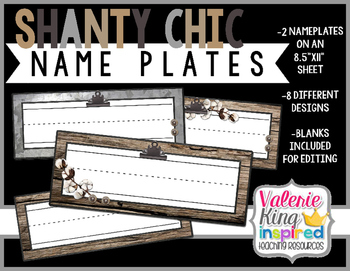 Shanty Chic Collection: NamePlates (Industrial Farmhouse)