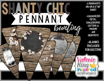 Shanty Chic Collection: Pennant Bunting Banner (Industrial Farmhouse)