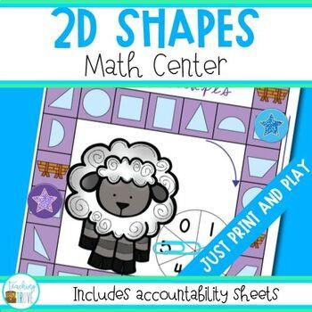 Shape - 2 D Shapes Math Center