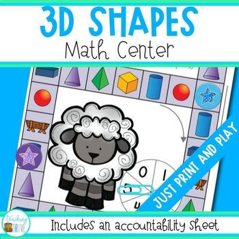 Shape - 3 D Shapes Math Center