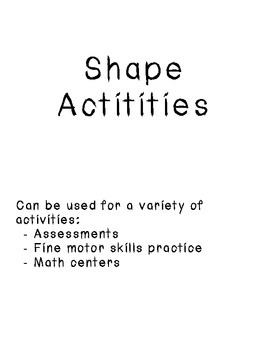 Shape Activities