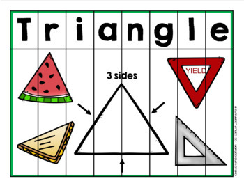 Shape Activities for Centers and Learning for PreK/Kindergarten (TRIANGLE)