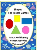 Shape Activities for Early Learners File Folder Games Kindergarten, Special Ed