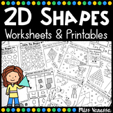 2D Shapes Worksheets Bundle