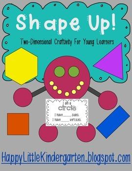 Shape Activity Craft:  circles, squares, rectangles, hexag