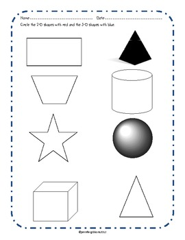 Shape Activity Pack- 2D and 3D