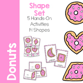 Shape Activity Printable Set - Donut Theme