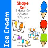 Shape Activity Printable Set - Ice Cream Theme
