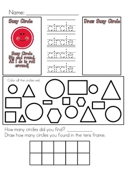 Shape Anchor Charts PLUS worksheets!