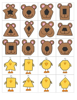 Shape Animals Sorting Mats