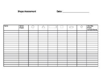 Shape Assessment Checklist