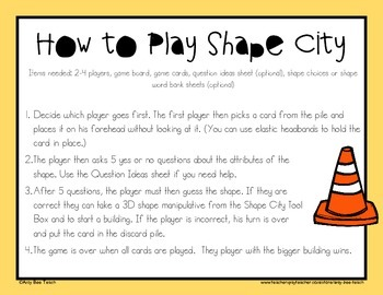 Shape Attribute Game