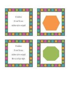 Shape Attribute Matching Game Center
