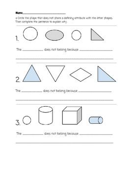 Shape Attribute Practice