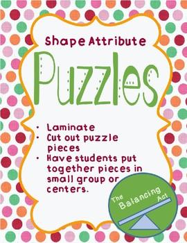 Shape Attribute Puzzles