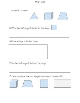 Shape Attribute Quiz