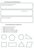 Shape Attribute Worksheet