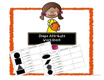 Shape Attribute Worksheet or Assessment Page ~ Sides and Corners