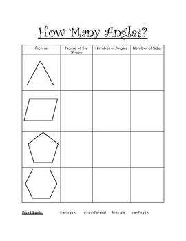 Shape Attributes: Angles and Faces