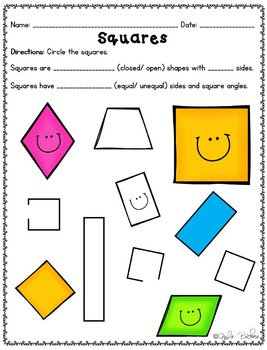 Shape Attributes- CC 1.G.A.1