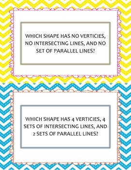 Shape Attributes Posters and Matching Game
