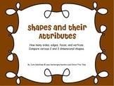 Shape Attributes/Classification- MIMIO- sides, faces, edges vertices Common Core