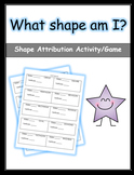 Shape Attribution Worksheet (Labels)