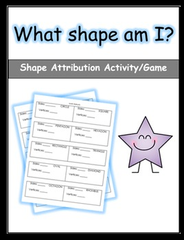 Shape Attribution Worksheet (Labels)