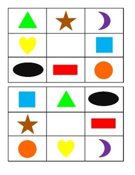Learning Games: Shape BINGO Boards